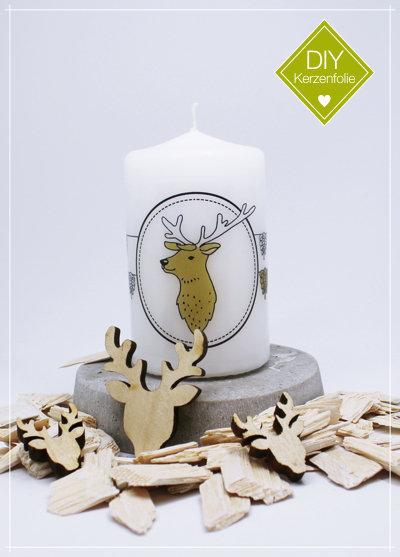 """DIY Kerzenfolie """"Nordic Deer Zapfen"""""""