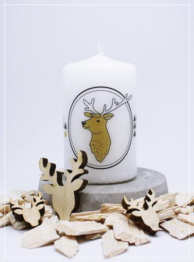 """Kerze """"Nordic Deer Triangel"""""""