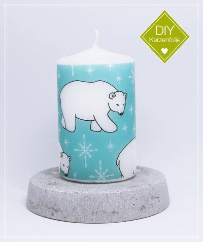 """DIY Kerzenfolie """"Eisbären"""""""