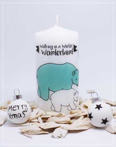 """Kerze """"Eisbären Wonderland"""""""