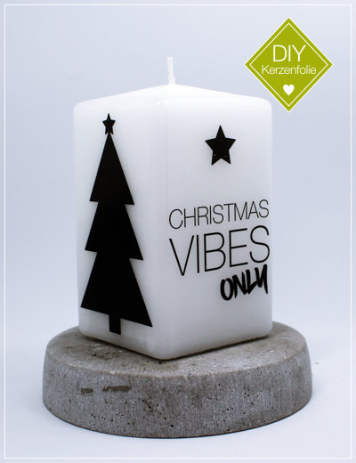 "DIY Kerzenfolie ""Christmas Vibes"""