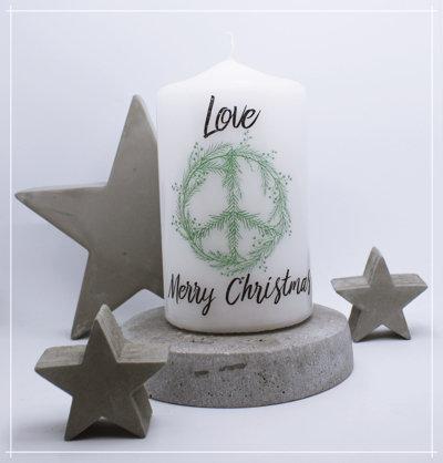 "Kerze ""Christmas Peace grün"""