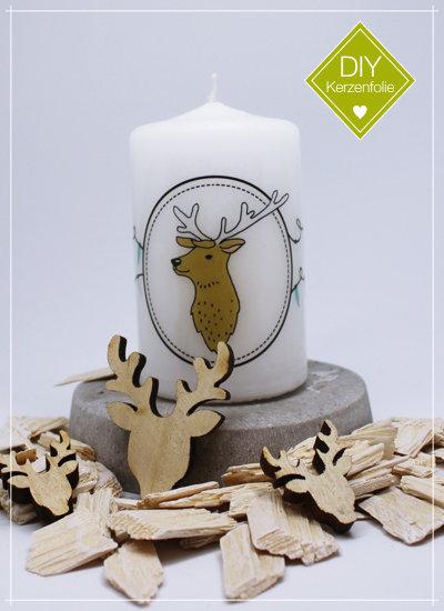 """DIY Kerzenfolie """"Nordic Deer Lampions"""""""