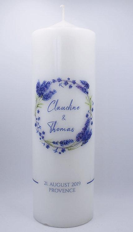 "Hochzeitskerze ""Lavendel"""