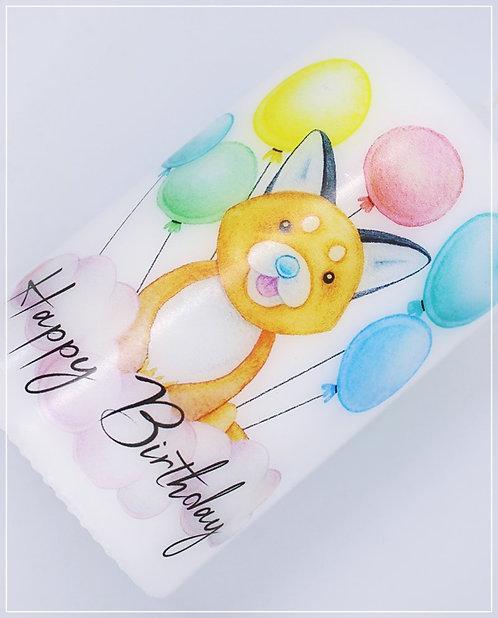 "Geburtstagskerze ""Fox Balloon"""