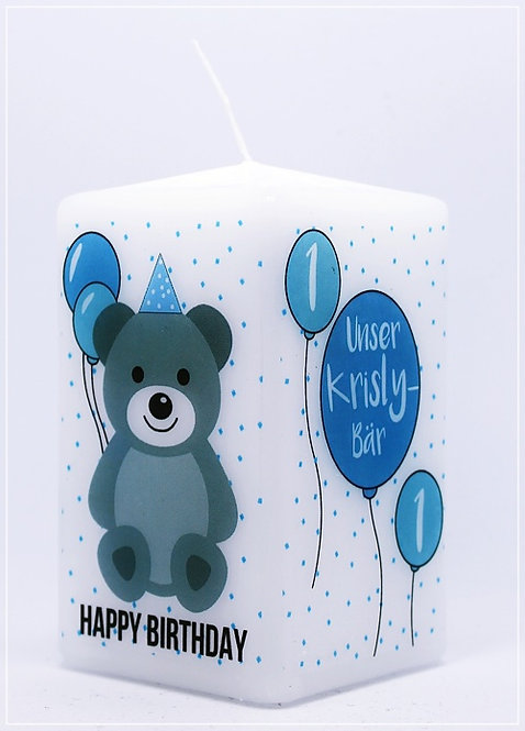 "Geburtstagskerze ""Teddybär"""