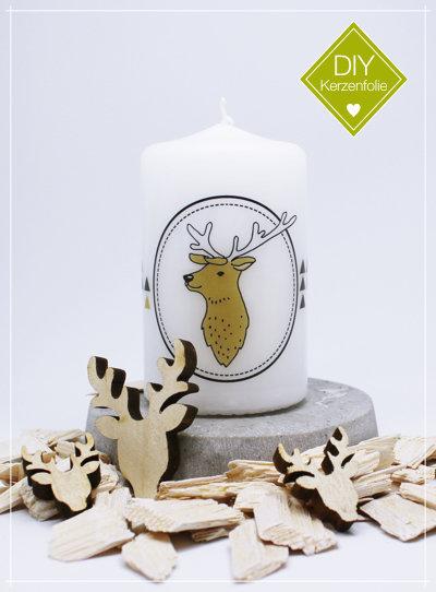 """DIY Kerzenfolie """"Nordic Deer Triangel"""""""