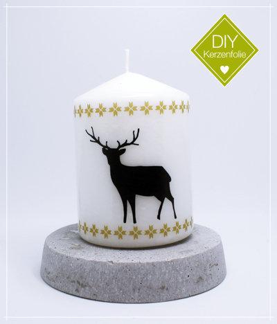 "DIY Kerzenfolie ""Nordic Deer black"""