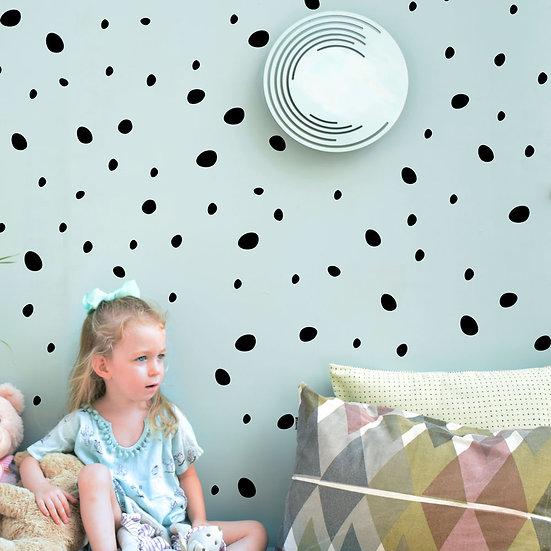 מדבקות קיר עיגולים א-סימטריים