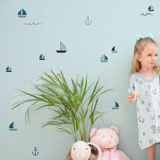מדבקות קיר סירות