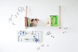 מדפים לחדרי ילדים | לספרים, בובות ודקורציה