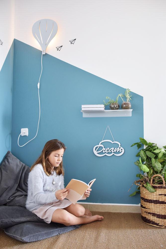 מנורת לילה מדף מדבקות קיר חדרי ילדים קיטה קידס