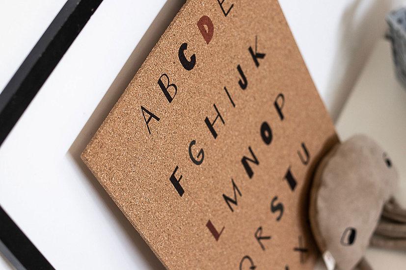 לוח שעם מודפס ABC
