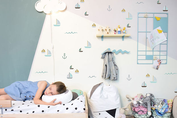 חדר ילדים בקונספט ים ועוגנים