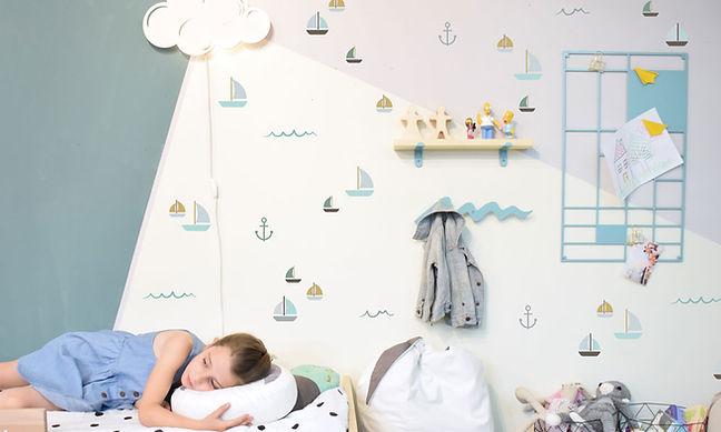 עיצוב חדר ילדים ים ועוגנים