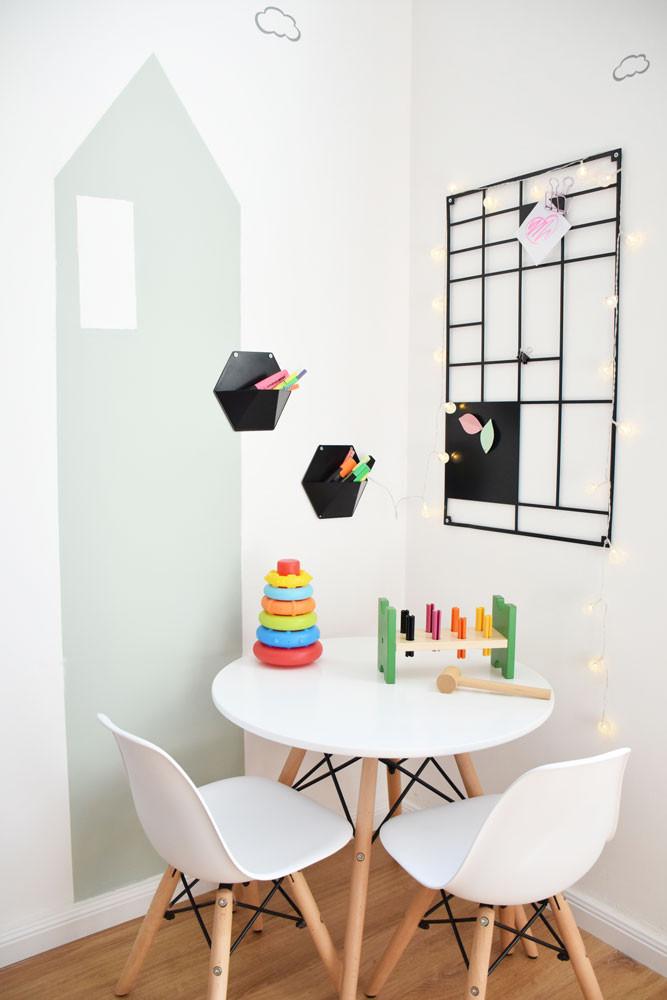 עיצוב פינת יצירה לילדים
