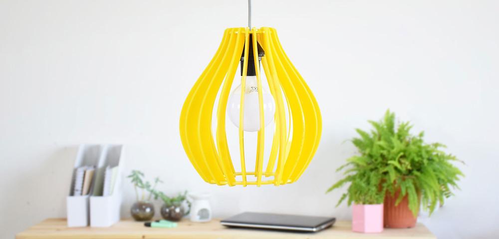 מנורת תקרה צהובה קיטה קידס