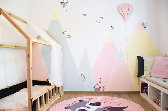 עיצוב חדר ילדם הרים
