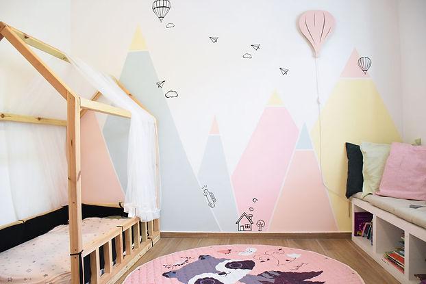 חדר ילדם הרים צבעוני