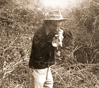 Donald Anderson shooting a charging panther