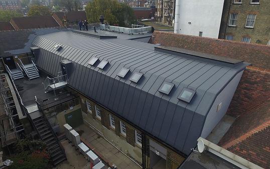 Sarnafil Warm Roof, Sarna Decor Profile, G410-15FSA, Self Adhesive Single Ply Membrane, Barrell Roof, JD Weatherspoon, Sarnafil Refubishment