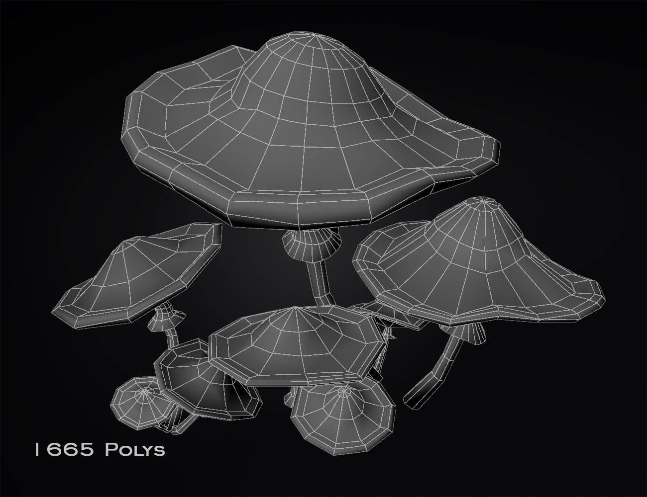 mushrooms-lowPoly_wireframe