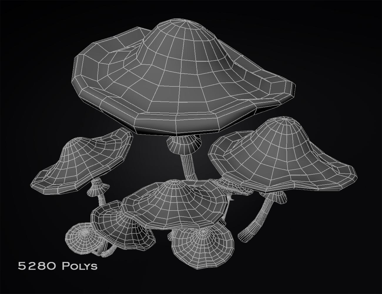 mushrooms-highPoly_wireframe