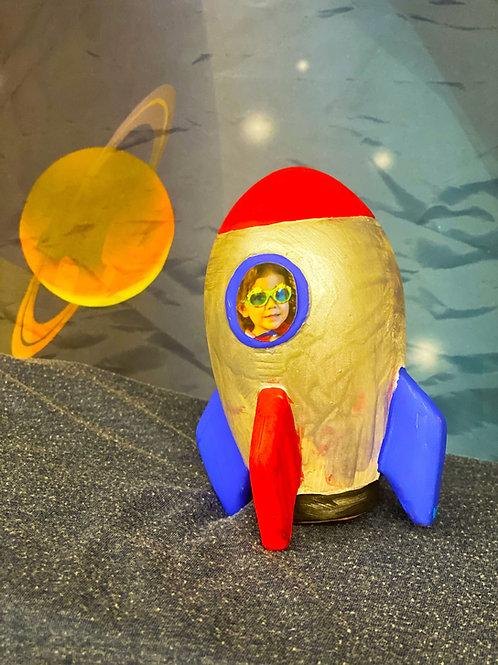 Rocket Ship Penny Bank