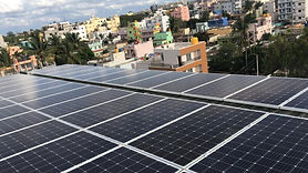 Image of Solar Rooftop Installation in Bangalore for a Commercial Building
