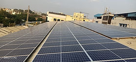 Image of Solar Rooftop Power system Installation in Bangalore at Nandi Toyota
