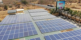Image of 200kW Solar Rooftop On-Grid Power Plant Installation that saves the solar customer close to 2,00,000 Rs per month.
