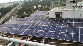 Image of Solar Rooftop Power Plant Installation in Bangalore for a hotel in Yeshwanthpur
