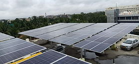 Image of a 200kW Solar Rooftop On-Grid Power PlantInstallation in Bangalore at Nandi Toyota.