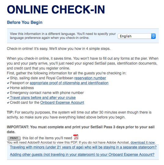 Presleyscruise online check in this will take you to the online check in page sciox Gallery