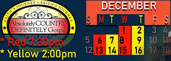 Abs Country Def Gospel 2021 Dec schedule