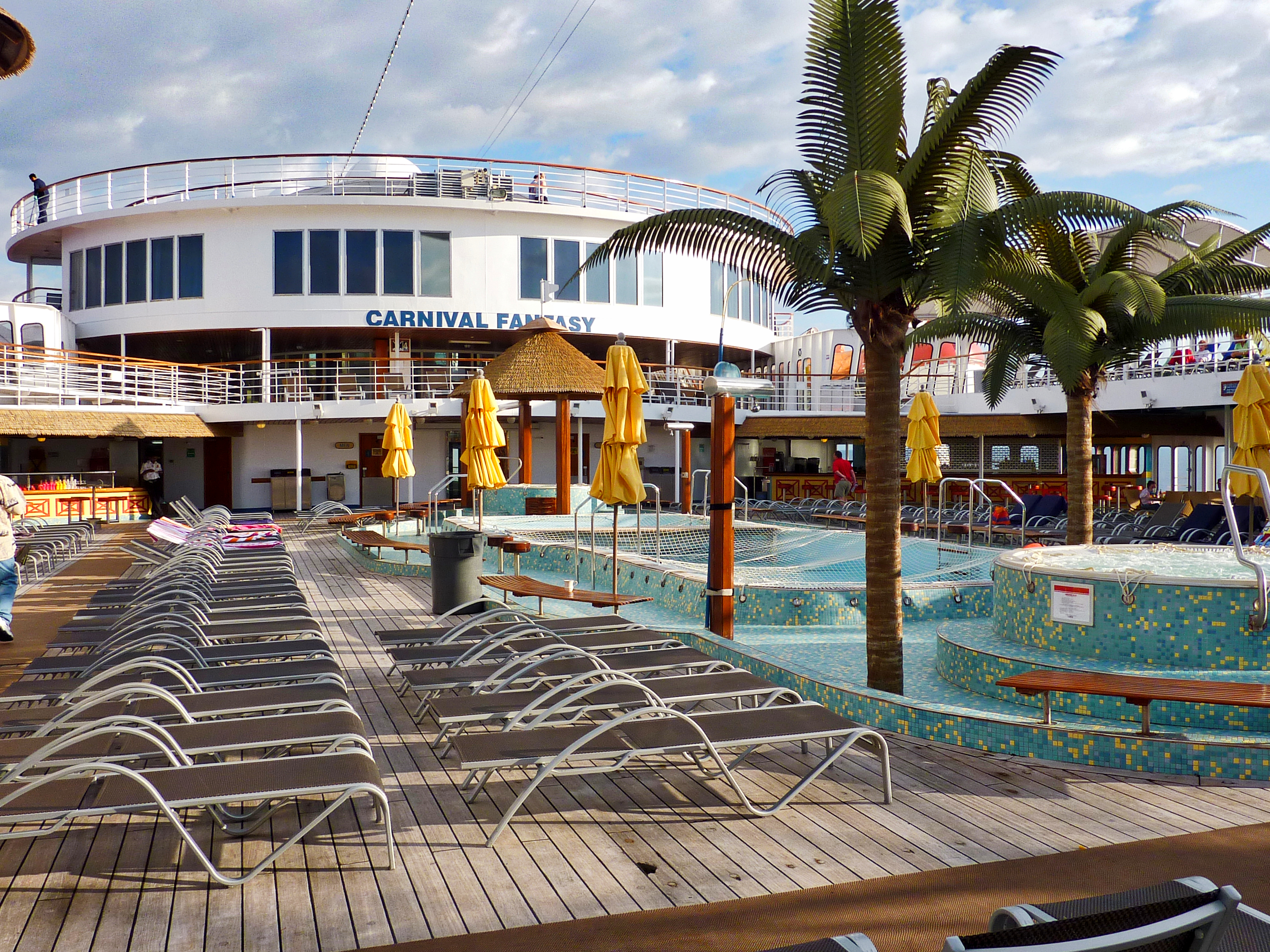 Top Deck on the Carnival Fantasy