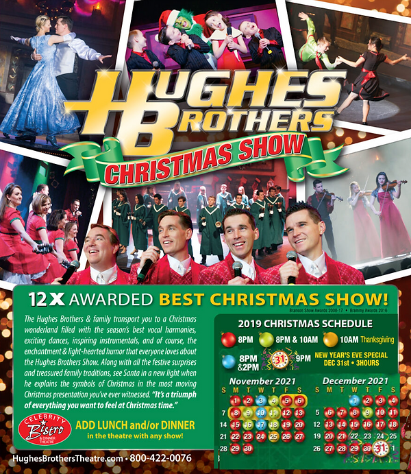 Hughes Brothers Christmas 2021 schedule.