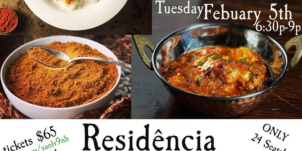 "Residência: Jalsa by Veda ""Indian Tasting Dinner"""