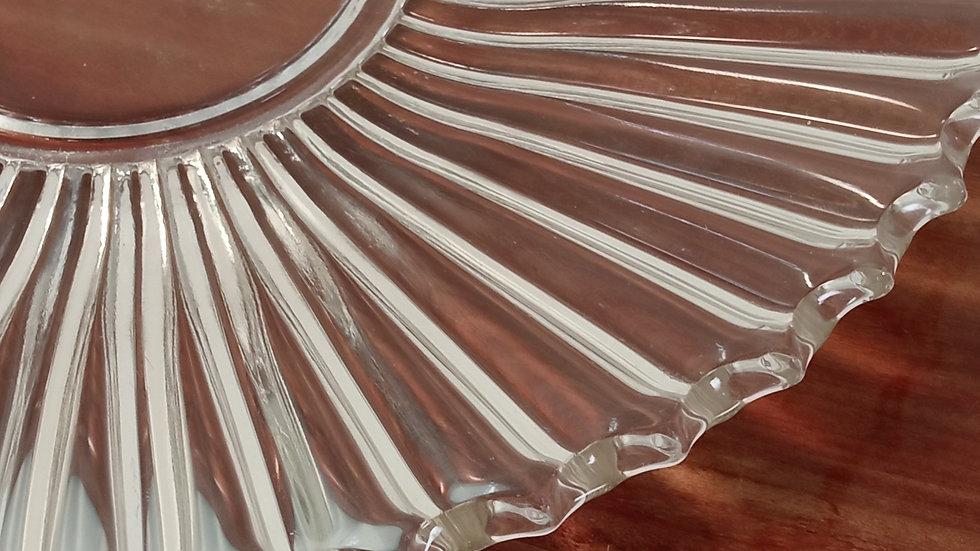 sottopiatto in vetro trasparente