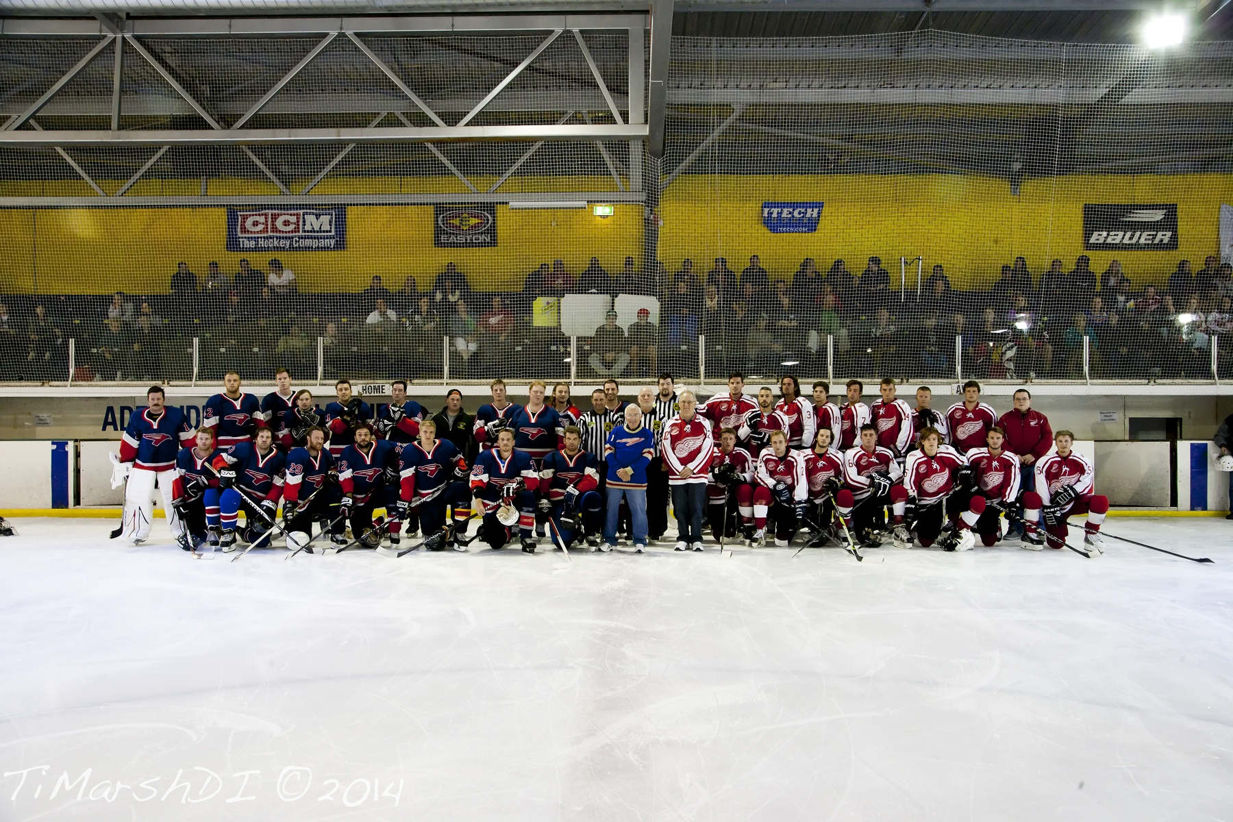 Teams replicate 1964 1st game photo