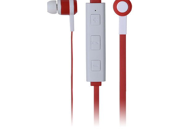 Fone De Ouvido Maxprint Freedom Bluetooth Branco/vermelho