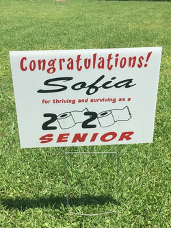 Senior Yard Sign