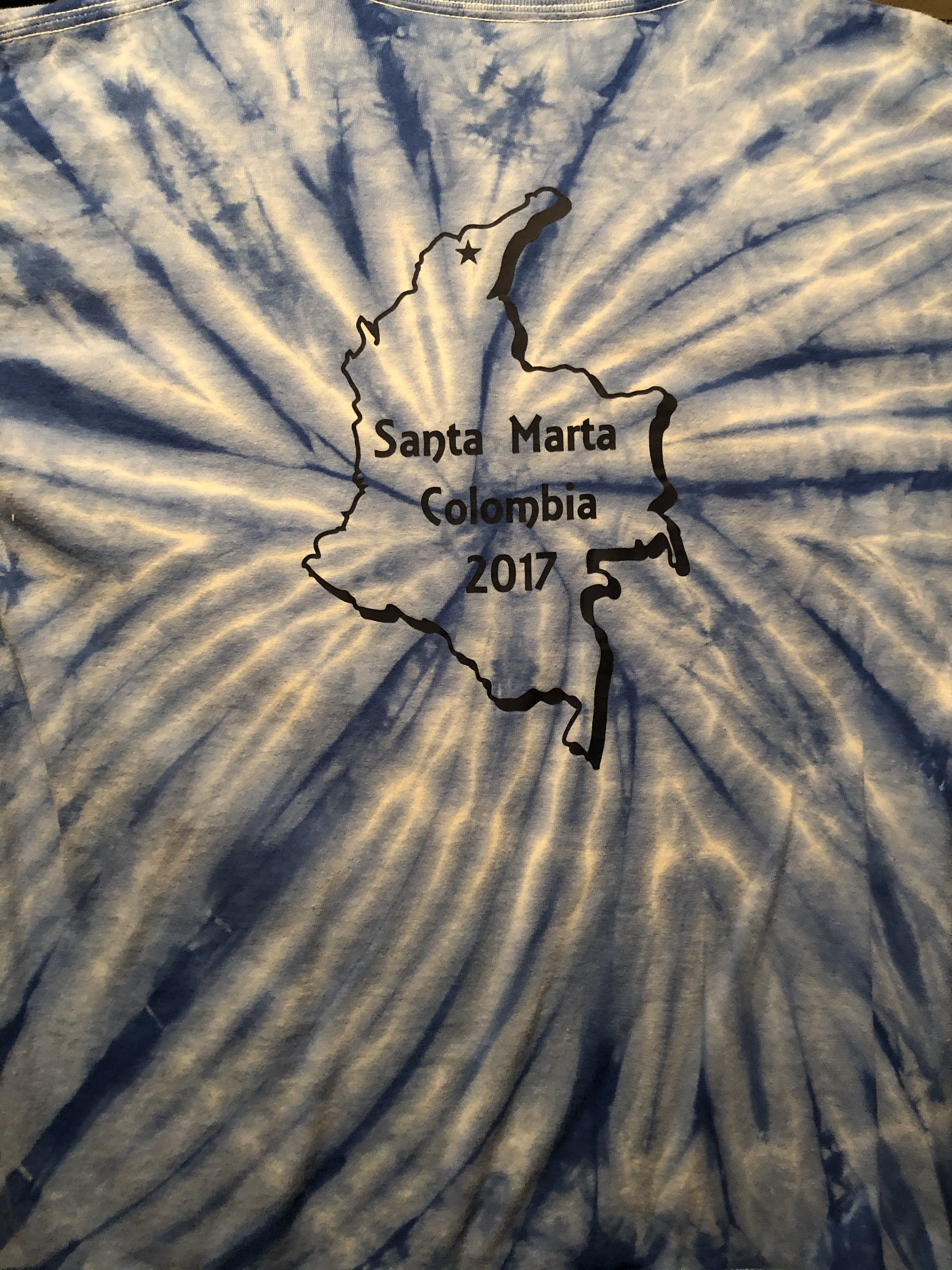Colombia hand dyed shirt