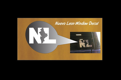 Nuevo Leon Chrome Window Sticker