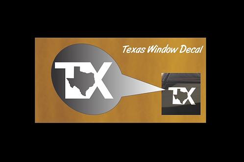 Texas Chrome Window Sticker