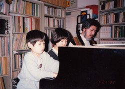 Kids training with Haruo