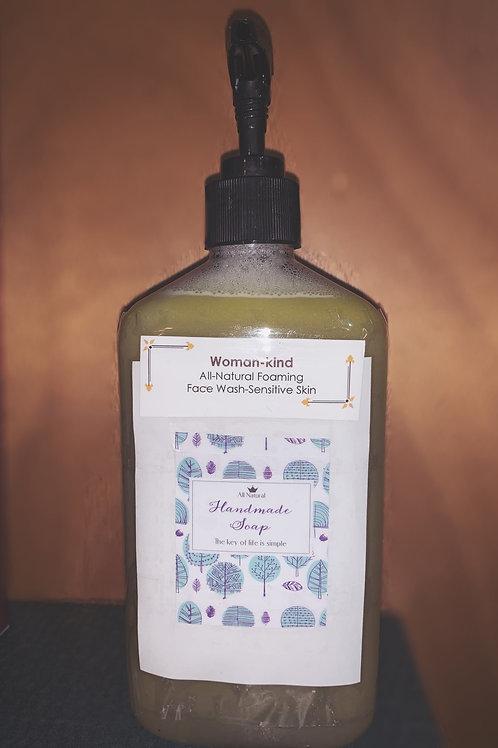 Woman-kind Almond+Hemp Oil Sensitive Foaming Face Wash