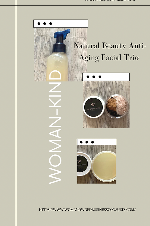 Woman-kind Natural Beauty Anti-aging Facial Trio