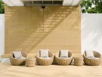 Sleek relaxation area in Bath