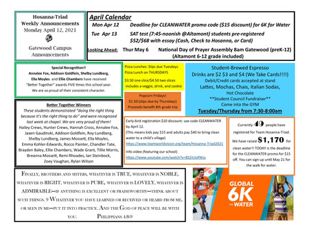 Weekly Announcements (Gatewood) 4-12-2021